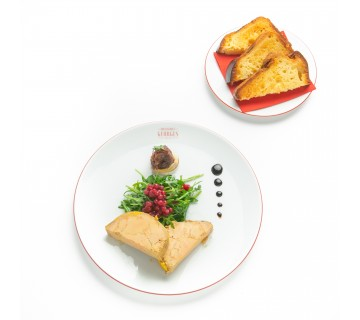 Terrine de foie gras au torchon, toasts briochés