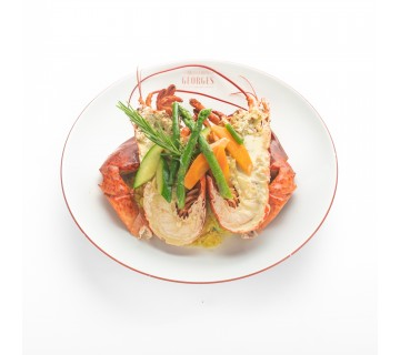 Homard rôti, risotto crémeux et cébettes (+- 450-500 gr)