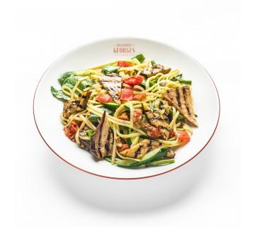 Linguine aux légumes et basilic
