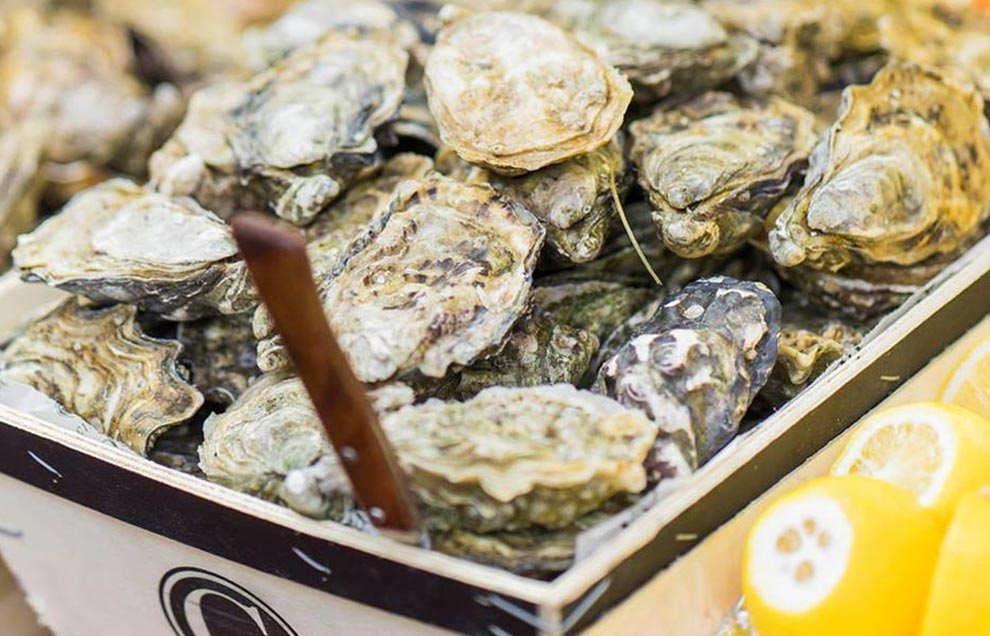 Huîtres fraîches des Brasseries Georges
